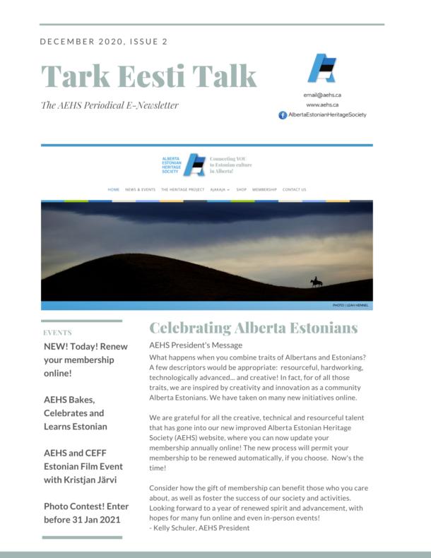 Tark Eesti Talk Issue 2 – 22 Dec 2020