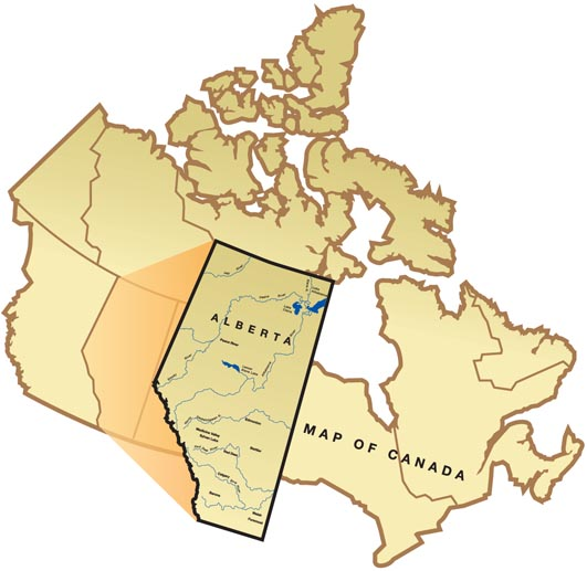 Map of Canada, highlighting Alberta