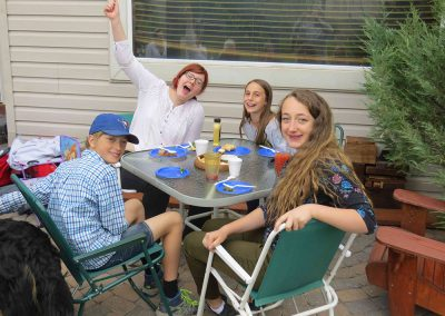 the kids table at Jaanipaev 2016